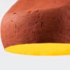 lampara-techo-rojo-ocre-papel-sensi-II-lamparas-ecologicas-ekohunters-crea-re