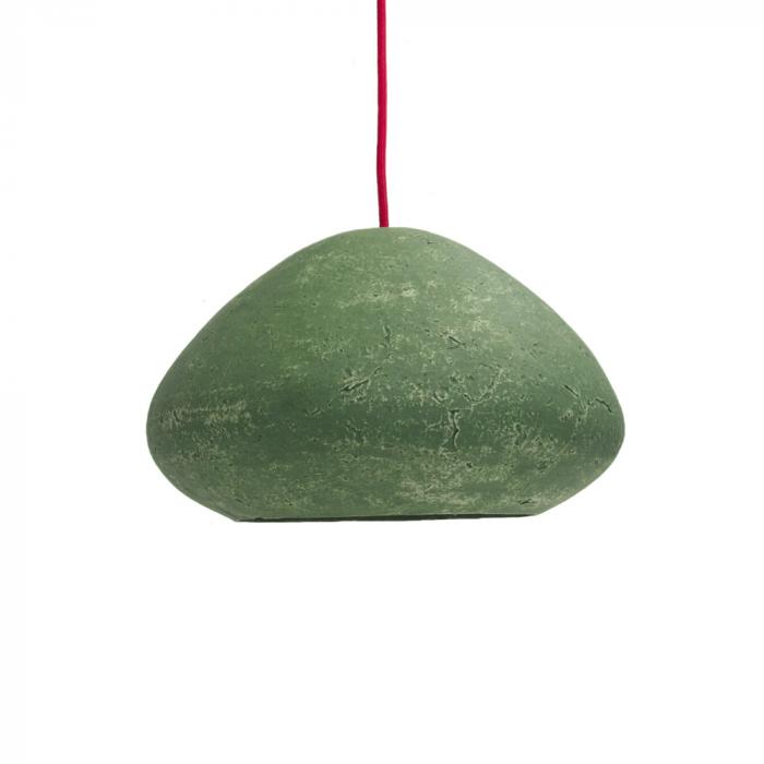 eco-friendly-paper-pendant-lamp-morphe-I-dark-dark-green-sustainable-lamps-ekohunters-crea-re-inspiring-changes