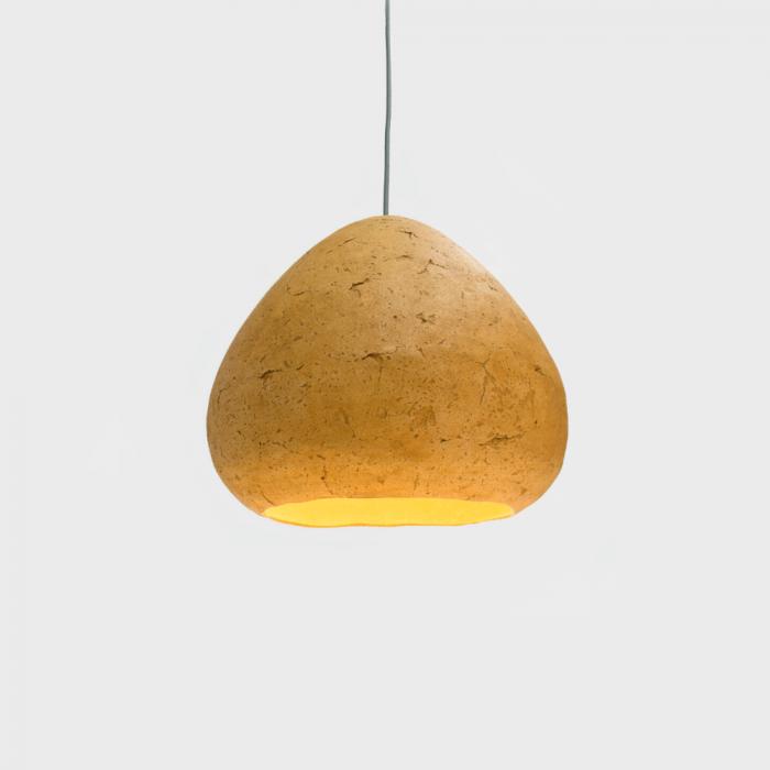 lampara-techo-papel-papel-color-arcilla-morphe-II-lamparas-ecologicas-ekohunters-crea-re