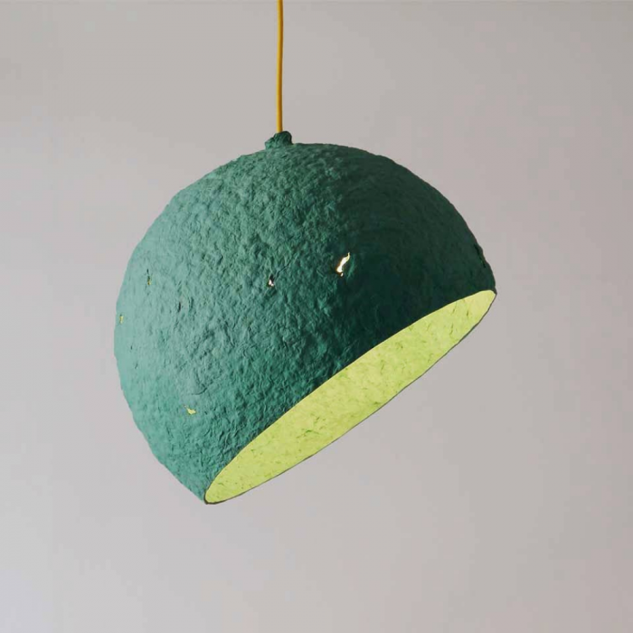 sustainable-paper-pendant-lamp-globe-turquoisesustainable-lamps-ekohunters-crea-re-inspiring-changes