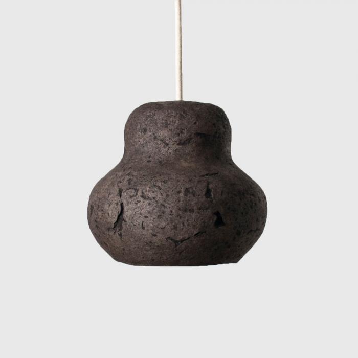 sustainable-black-umber-paper-pendant-lamp-morphe-venus-mini-sustainable-lamps-ekohunters-crea-re-inspiring-changes
