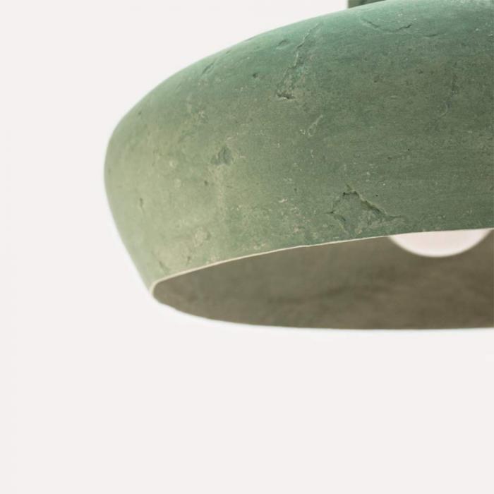 lampara-techo-papel-verde-azulado-morphe-IV-lamparas-ecologicas-ekohunters-crea-re