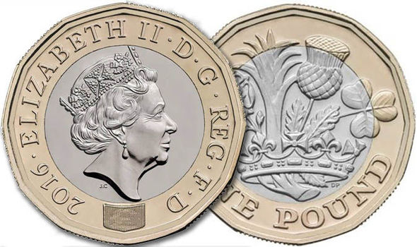 New 1 pound (1 pound) coin