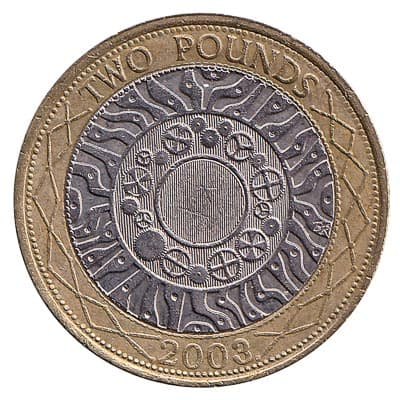 2 pounds (2 pounds) coin - back