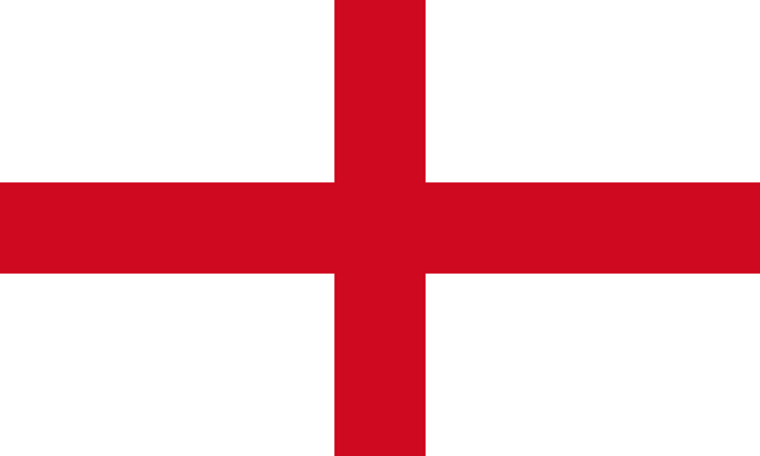 The English flag represents the Cross of Saint George.