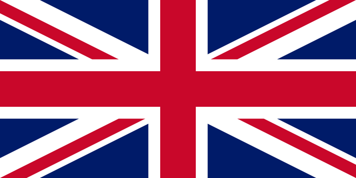 The flag of the United Kingdom of Great Britain and Northern Ireland.
