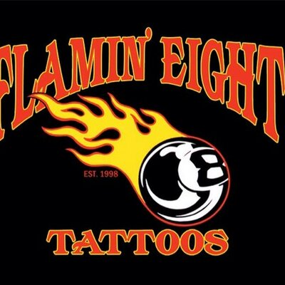 Logo de la société Flamin' Eight Tattoo Studio