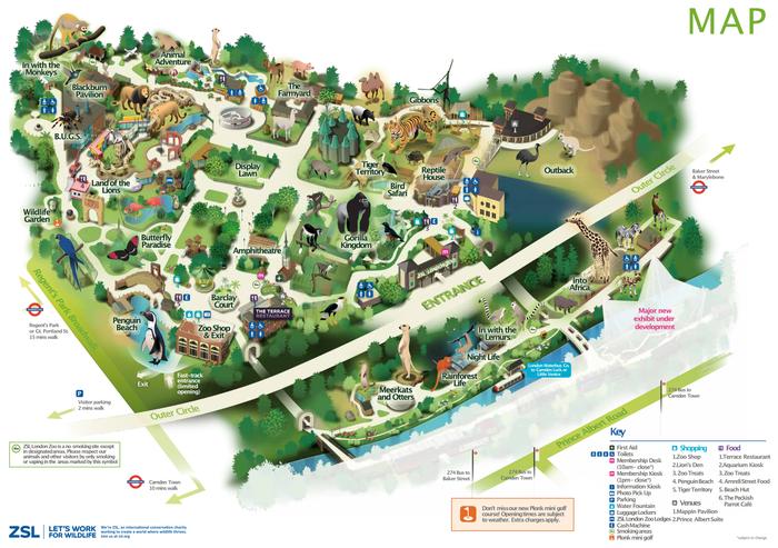 Cartina Con Monumenti Di Londra.Zoo Di Londra La Guida 2021