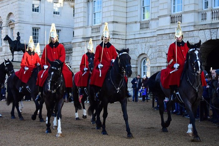 Gardes à cheval à Horse Guards Parade
