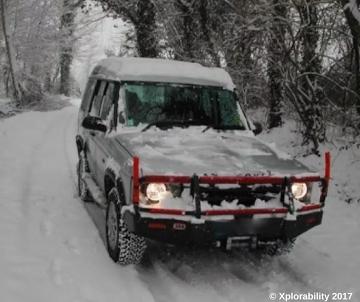 Land Rovers Love Winter