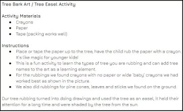 Tree Rubbing Art Instructions