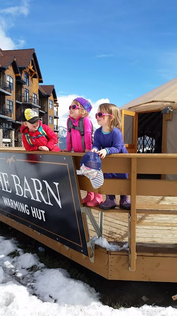 Kids love to ski, Kicking Horse Resort, Golden, BC, Canada