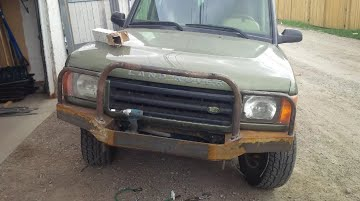 Welding of Custom Land Rover Bumper