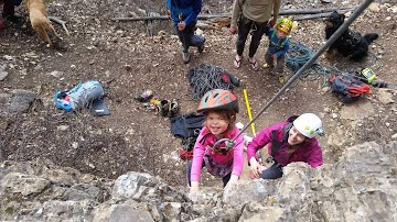 Climbing as a family, including the toddlers in sport climbing is a fun bonding experience