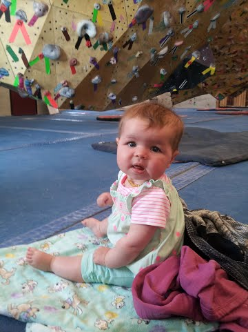 Bouldering and climbing with babies
