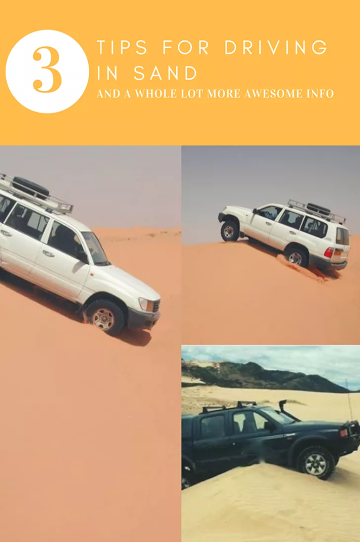 Expert tips for driving in sand