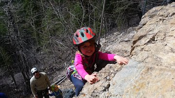 Outdoor activities for kids, tried rock climbing?
