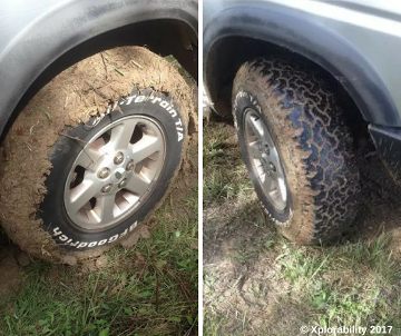 Remember to clean your tyres after off-roading before hitting the highway