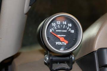 Aftermarket Volt Gauge