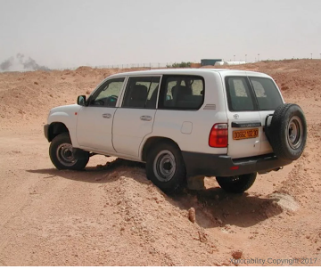 4WD off-roading hazard identification and safety margin assessment