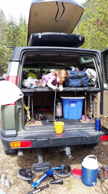 Land Rover shelving system best system for camping and storage