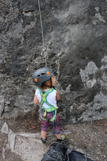 Want to get into rock climbing? Check out local climbing gyms for camps and courses.