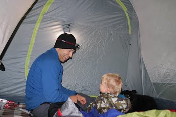 Tent camping with kids and dogs