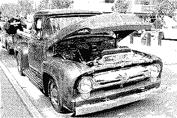 car dithered atkinson 2-color