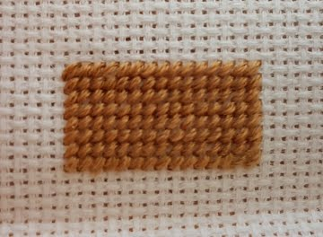 stitched half cross stitch