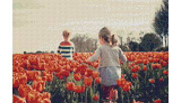 Example Mockup - Children in Tulip Field