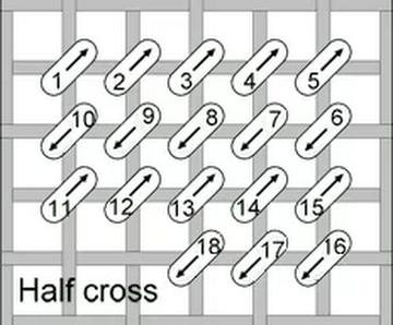 Half Cross Stitch
