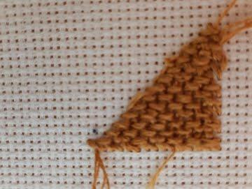 basket weave stitch rear-view