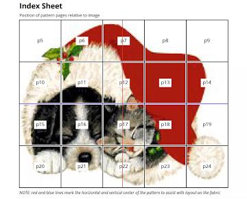 cross-stitch pattern index sheet
