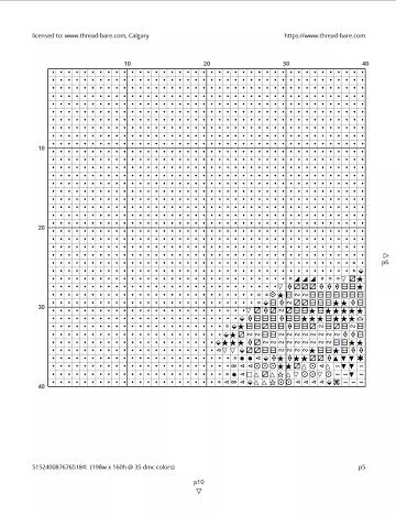 cross-stitch pattern large print
