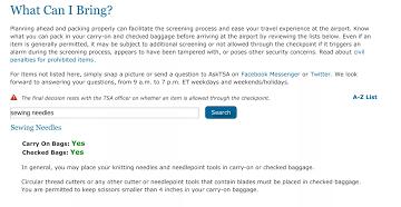TSA needles