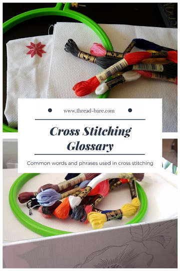 cross stitching glossary terms