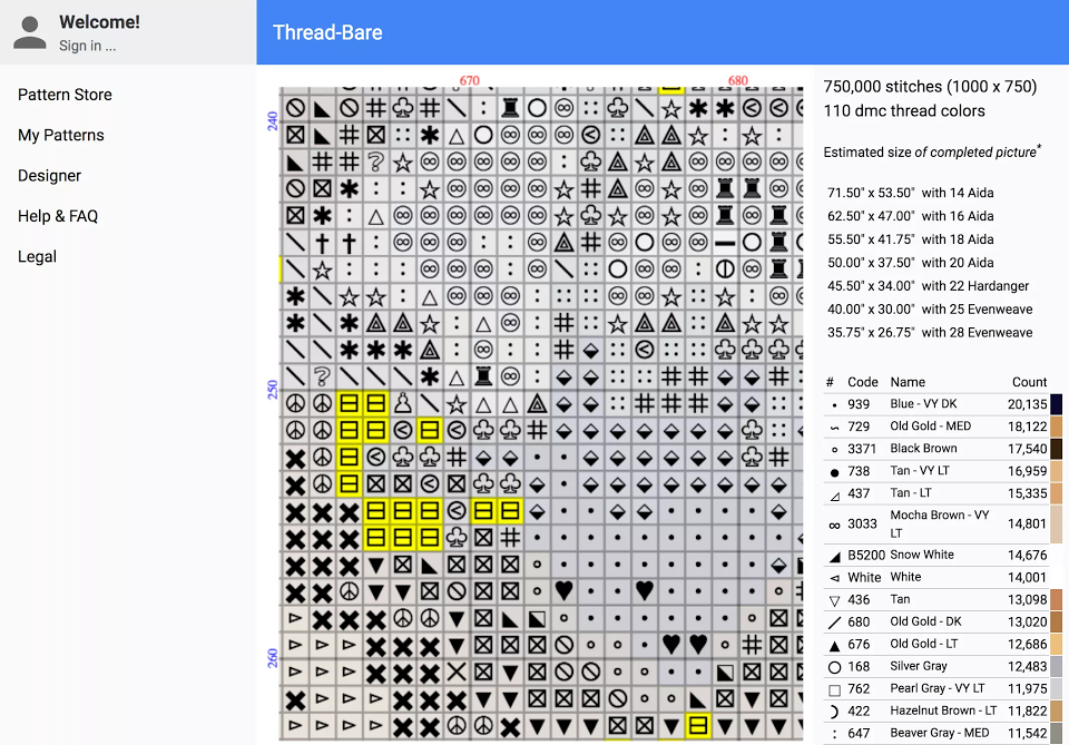 New Online Cross Stitch Chart Maker