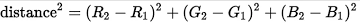 rgb distance formula