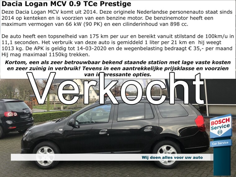 Foto van Dacia Logan MCV 0.9 TCe Prestige