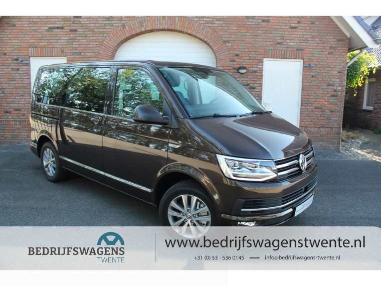 Foto van Volkswagen Caravelle T6 CARAVELLE 204PK DSG TDI HIGHLINE | ACC | GEEL KENTEKEN