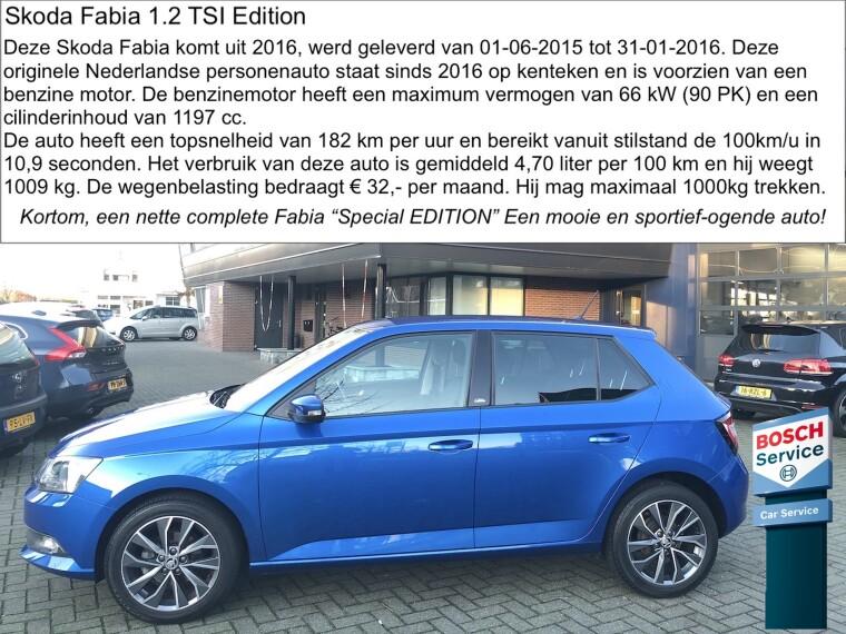 Foto van Škoda Fabia 1.2 TSI Edition