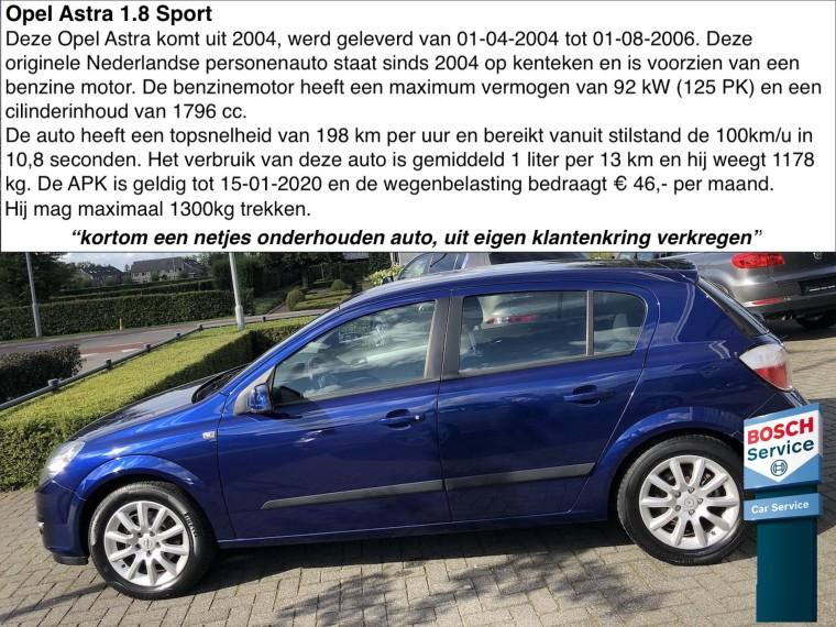 Foto van Opel Astra 1.8 Sport