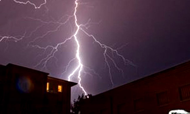 Two girls killed by lightning