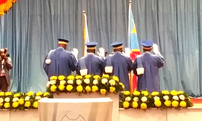 Senior Magistrates of the supreme Court of appeal and the Council of State take oath before President Joseph Kabila