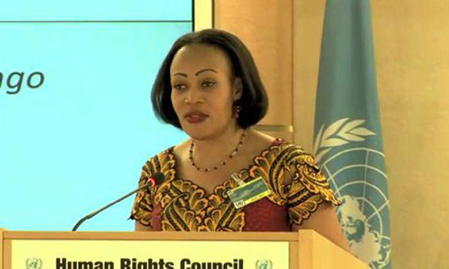 Marie-Ange Mushobekwa is pleased of the progress for protection of human rights in the DRC