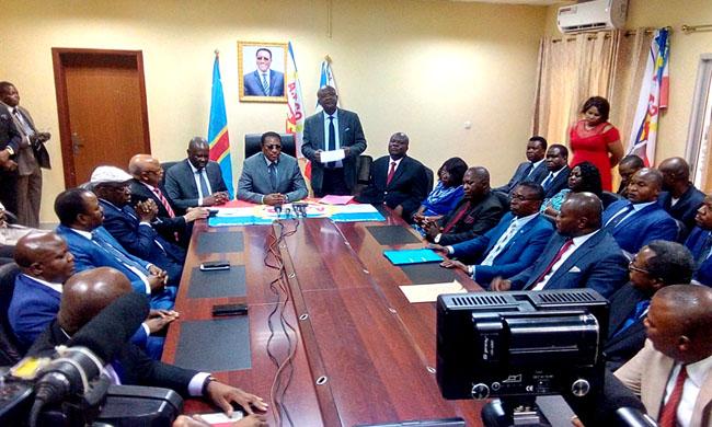 While thanking President Kabila for the choice, Bruno Tshibala reassures Emmanuel Ramazani Shadary of his support