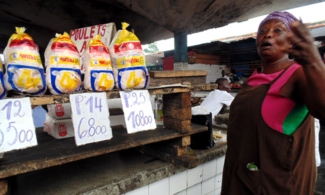 Chicken cardboard on the rise in the Kinshasa market
