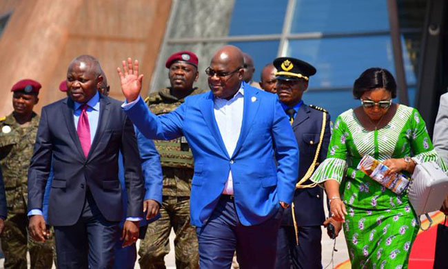 Felix Tshisekedi since Wednesday in a round in the United States, Japan and Russia