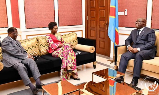 Felix Tshisekedi received in audience the presidents of the two rooms of the congolese Parliament