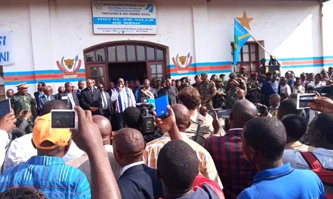 """Felix Tshisekedi welcomed in Beni with the slogan """"Father forgive us"""""""